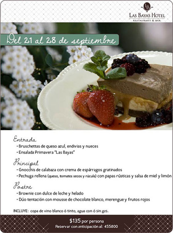 Newsletter Restaurant Las Bayas